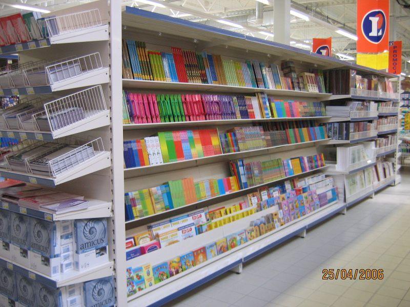 Papeterie rayonnages pour produits industriels et droguerie mobilier de magasin produits for Meuble 80x30